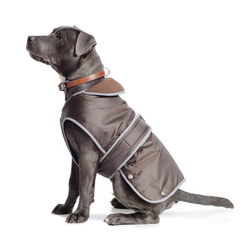 Ancol Muddy Paws Coat and Chest Protector, L, Chocolate