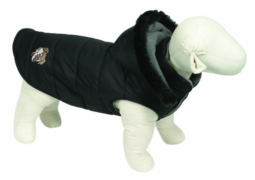 Doggy Things Puffa Jacket, S, Black