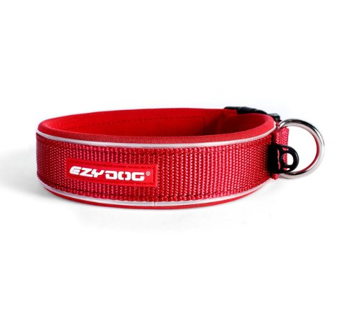 EzyDog Neo Dog Collar, Medium, Red