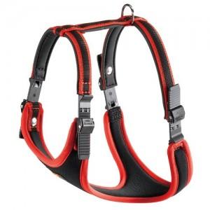 Ferplast Ergocomfort Nylon Padded Dog Harness Medium Red/Black