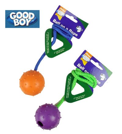 (good boy) rope & ball dog toy