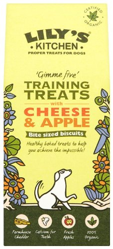 Lily's Kitchen Training Treats with Cheese and Apple for Dogs 100g (Pack of 4)