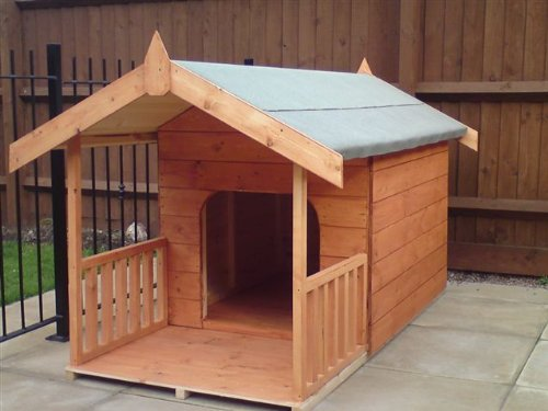 Luxury Dog Kennel Doggy Summerhouse With Veranda UK Mainland Only Delivery dog outfit