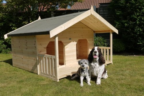 Luxury double dog kennel summerhouse for 2 large dogs unique design