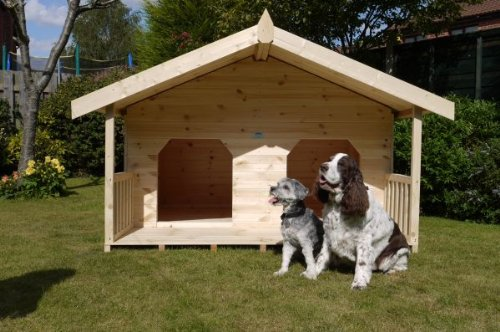 Luxury double dog kennel summerhouse for 2 large dogs for 2 large dog house