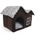 Luxury-High-End-Double-Pet-House-Brown-Dog-Room-55-x-40-x-42-cm-0