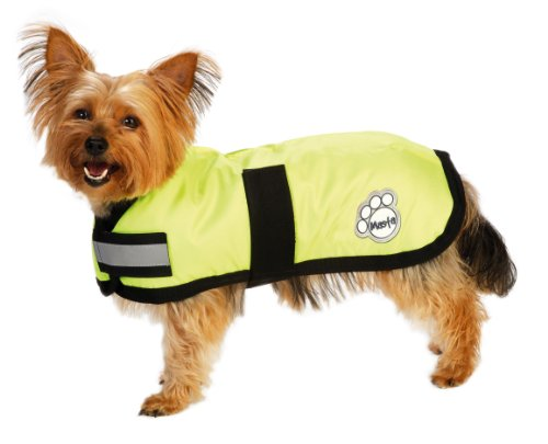 Masta Waterproof Dog Coat - Yellow, 16 Inch