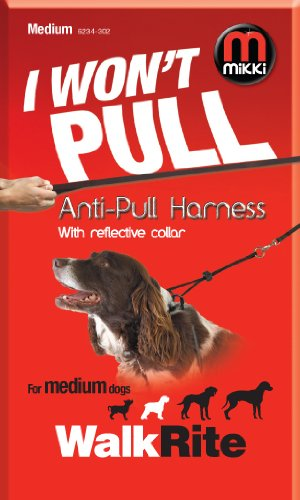 Mikki Training Anti-pull Harness with Reflective Collar, Medium