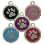 Personalised-Engraved-32mm-Stainless-Steel-Pet-ID-Tag-Dog-Paw-Design-0
