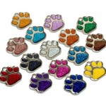 Personalised-Engraved-ID-Pet-Tags-Glitter-Paw-Design-Quality-27mm-Dog-Tags-0