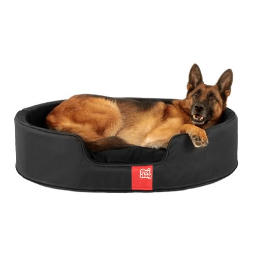 Poi Dog 174 Luxury Oval Dog Bed Large Nest Black Dog Beds