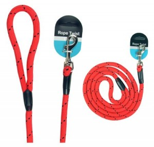 Rosewood Rope Twist Lead, 64-inch, Red/ Black