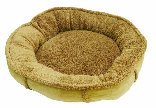 Rosewood Tan Plush Wrap Around Dog Bed