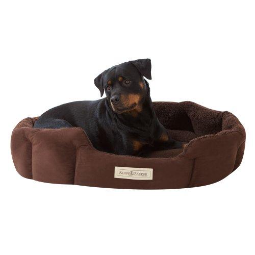 Ruff & Barker® Oval Dog Bed - BROWN Dog Nest - LARGE Dog Beds 95cm x 85cm x 21cm