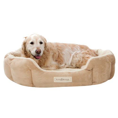 Ruff & Barker® Oval Dog Bed - NATURAL Dog Nest - LARGE Dog Beds 95cm x 85cm x 21cm