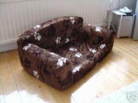 Luxury fleece cradle dog bed size large for Cat chaise lounge uk