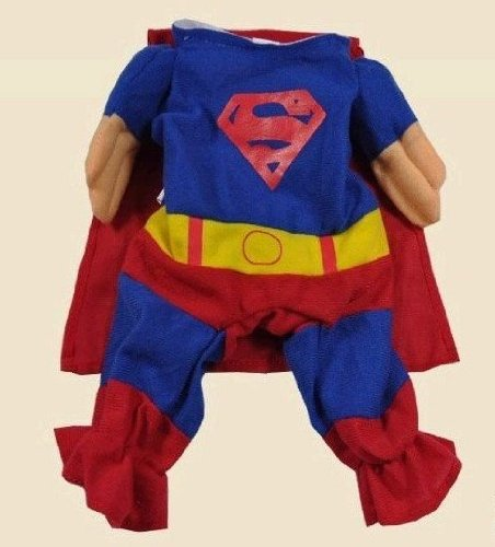 Xsmall Superman Dog Cat Puppy Halloween Costume Clothes