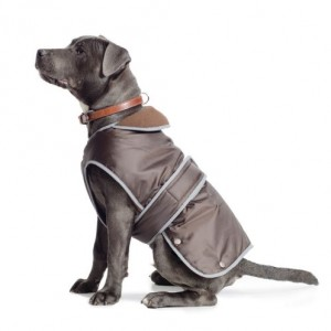 Ancol Muddy Paws Coat and Chest Protector, M, Chocolate