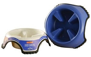 Animal Instincts Anti Skid Slow Feed Pet Bowl (Size: Large)