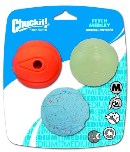 ChuckIt! Fetch Medley Asst 3-Ball Pack