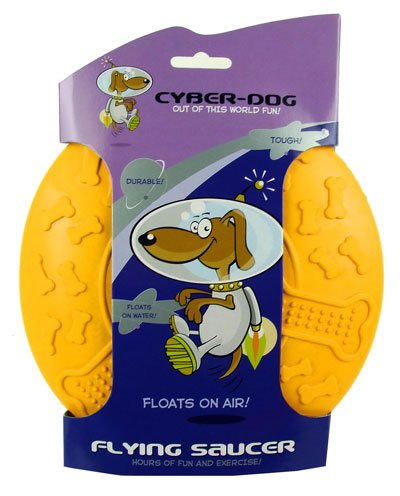 Cyber-Dog Dog Toy Flying Saucer UFO Rubber Large