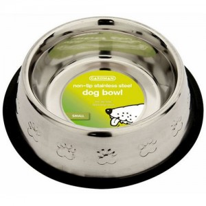 Gardman Large Non-Tip Stainless Steel Dog Bowl