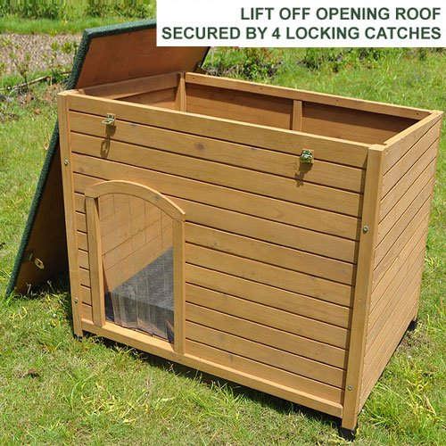 Feelgooduk Wooden Dog Kennel 101 X 74 X 80 Cm Large Dog Outfit
