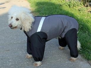 Made in the UK extreme trouser suit dog coat - grey - 35cm / 14inch