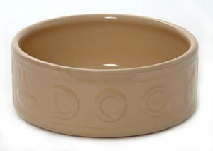mason cash original cane lettered dog bowl