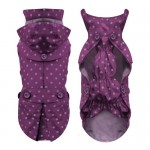 Milk-Pepper-Designer-Dog-Waterproof-fully-lined-Raincoat-Jacket-Parka-for-Small-dogs-in-Purple-size-28-cm-0