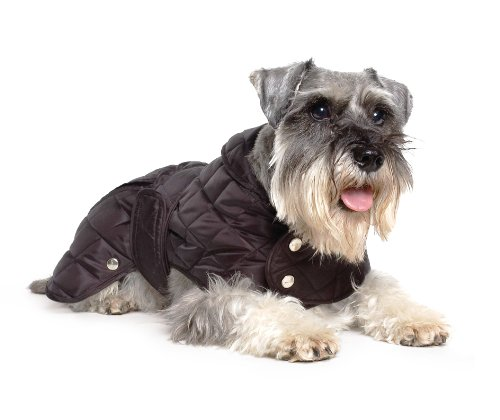 Muddy Paws Diamond Quilt Coat Black Small