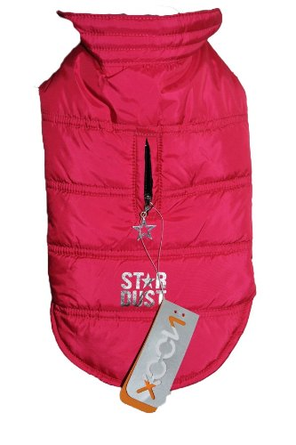 Noox by Milk & Pepper French Design Dog Waterproof Winter Coat Jacket - Sophisticated and Amazing Quality (Fuchsia/ Hot Pink, size 3:Length 31cm)