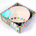 Pet Brands Dog Paw Prints Ceramic Dish, 6-inch