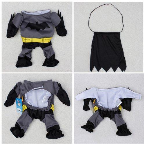 Pet Cat Dog Batman Costume Warm Outfit Clothes Funny Party Fancy Dress,Asian size