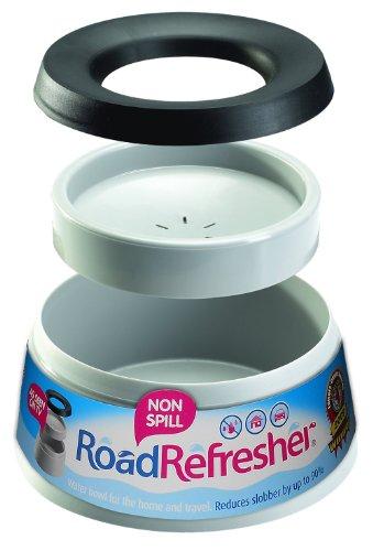 Prestige Road Refresher Non Spill Pet Water Bowl, L, Grey