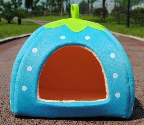 Strawberry Igloo Dog Bed