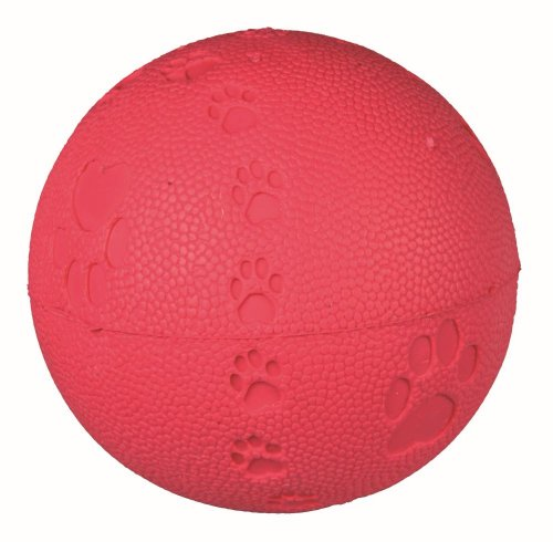 Trixie Natural Rubber Toy Dog Ball, 9 cm