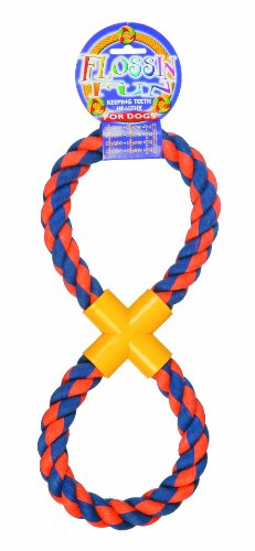 Happy Pet Flossin Fun Fig 8 Rope Toy For Dogs, Large