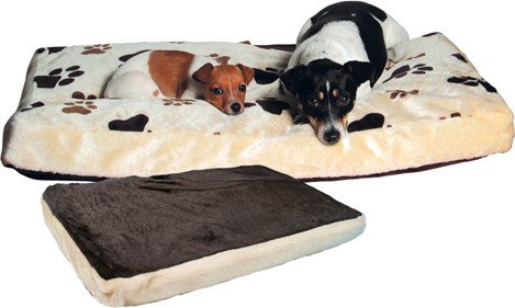 Trixie 37593 Gino Dog Cushion 80  55 cm Beige / Dark Brown