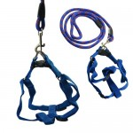 UniversalGadgets-Blue-Extra-Strong-Training-Walking-Pet-Dog-Lead-Leash-Collar-Rope-+-Adjustable-Harness-0