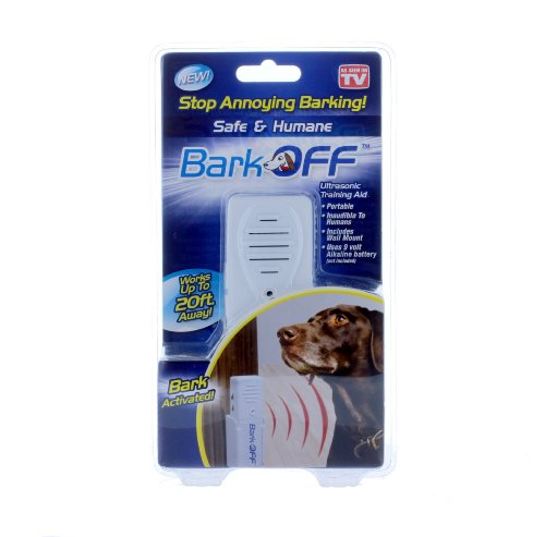 Bark Off Ultrasonic Training Aid, Stop Annoying Barking, Indoor and Outdoor Use