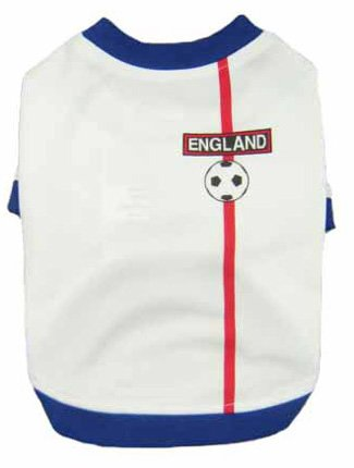 England Dog Football T-Shirt - 6 Sizes - XXL