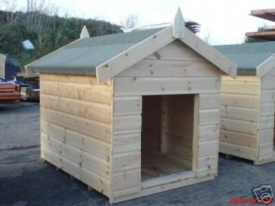 Quality Dog Kennel for Large Dog Traditional Style made with Swedish Redwood Timber T&G.  Please note Restricted Delivery Areas