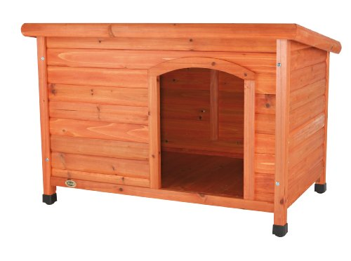 Trixie Natura Flat Roof Dog Kennel, Medium, 85  58  60 cm