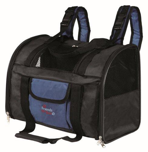 trixie 2882 'connor' rucksack nylon 44  30  21 cm black / blue