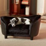 Deluxe-Ultra-Plush-Snuggle-Bed-Dog-Sofa-Black-D34805H-0
