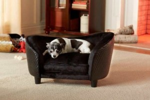 Deluxe Ultra Plush Snuggle Bed Dog Sofa - Black (D34805/H)