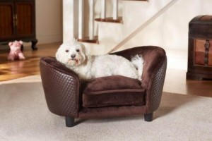 Deluxe Ultra Plush Snuggle Bed Dog Sofa - Brown (D34806/H)