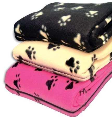 JUMBO SIZE PET BLANKET FLEECE. SUITABLE FOR DOG, PUPPY, CAT KITTEN.CREAM