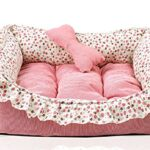Love-U-Princess-Floral-Pet-Bed-Sofa-House-Mat-for-Cat-Dog-Puppy-22-Inch-by-155-Inch-Pink-0